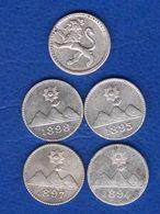 Guatemala  5  Pieces  Arg  1/4  Real - Guatemala
