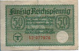 Billet 50 FUNFZIG REICHSPFENNIG - [ 4] 1933-1945 : Troisième Reich