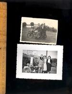 Photographie Originale : X2 Photos Motos Moto Dont KOEHLER ESCOFFIER  Près De Lyon Vers 1950 Motocyclette Motorbike - Automobiles
