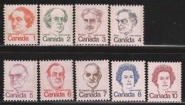 CANADA 1973 SCOTT 586-593A** TAGGED GT2 - 1952-.... Elizabeth II