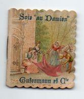 Calendrier De Poche 1912, Soie Au Damien Gutermann Et Cie 4,6 X  5,2 Cm - Calendriers