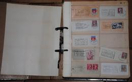 Album  Environ 1400 Flammes Oblitérations Années 1950 1960 - Marcophilie (Timbres Détachés)