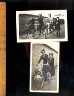 Photographie Originale : X2 Photos Femmes Sur Vélos Vélo Cycles Cycle Bicyclettes Bicyclettes - Ciclismo
