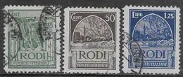 Italia Italy 1929 Colonie Egeo Pittorica D11 3val Sa N.6,8-9 US - Egeo