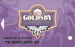 Goldsby Gaming Center - Norman OK - 3rd Issue Slot Card - List Line Rev Starts 'this Card' - Casino Cards