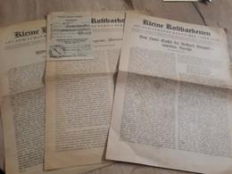 Old Newspapers - Kleine Koltbarkeiten - Tijdschriften