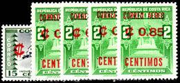 Costa Rica 1962 Air Provisional Set Unmounted Mint. - Costa Rica
