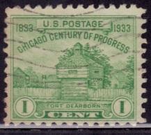 United States, 1933, Restoration Of Fort Dearborn, 1c, Sc#728, Used - Vereinigte Staaten