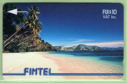 Fiji - Fintel - 1993 Second Issue - $10 Palms & Beach - FIJ-FI-4 - VFU - Fiji