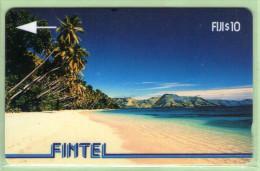 Fiji - Fintel - 1992 First Issue - $10 Palms & Beach - FIJ-FI-2 - VFU - Fiji