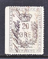 DANMARK  REV.  20  (o)   1875-6  Issue - Revenue Stamps
