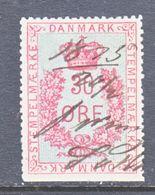 DANMARK  REV.  21  (o)   1875-6  Issue - Revenue Stamps