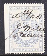 DANMARK  REV.  22  (o)   1875-6  Issue - Fiscali