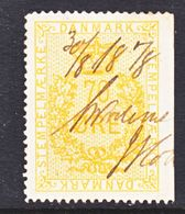 DANMARK  REV.  24  (o)   1875-6  Issue - Revenue Stamps