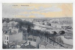 (RECTO / VERSO) LAVAL EN 1907 - PANORAMA - BEAU CACHET - CPA VOYAGEE - Laval