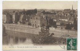 (RECTO / VERSO) LAVAL EN 1907 - N° 3 - VUE PRISE DU JARDIN DE LA PERRINE - BEAU CACHET - CPA VOYAGEE - Laval