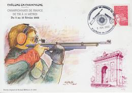 Carte  FRANCE  Championnat  De   France  De  TIR   CHALONS  EN  CHAMPAGNE   2002 - Shooting (Weapons)