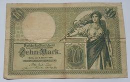 BILLET ALLEMAGNE - EMPIRE - P.9b - 10 MARK - 06-10-1906 - REICHSKAFFENFCHEIN - ALLEGORIE - [ 2] 1871-1918 : German Empire