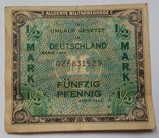 BILLET ALLEMAGNE - OCCUPATION ALLIEE - P.191 - 1/2 MARK - 1944 - 1945-1949: Alliierte Besatzung