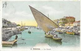 Palavas-les-Flots - Le Canal, Barques De Pêche (à Voile) - Edition Des Nouvelles Galeries - Carte Colorisée N° 10 - Palavas Les Flots
