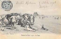 Palavas-les-Flots - 1930, La Plage - Phototypie Lacour - Carte Animée, Dos Simple 1904 - Palavas Les Flots