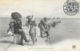 Palavas-les-Flots - Sur La Jetée, Pêcheurs - Carte M.T.I.L. N° 144 - Palavas Les Flots