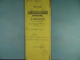 Acte Notarié 1892 Vente De Seutin De Géonsart à Coulonval De Baileux /15/ - Manuscrits