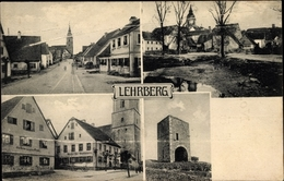 Cp Lehrberg In Der Frankenhöhe Bayern, Gasthaus Zum Grünen Baum, Brauerei, Kirche, Stadtansichten - Germania