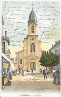Palavas-les-Flots - Rue De L'Eglise - Edition Des Nouvelles Galeries - Carte Animée, Colorisée - Palavas Les Flots