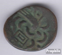 Kambodscha KM-Nr. : 11 1847 Sehr Schön Billon 1847 2 Pe Hamza Bird With Chi 1/2 Fuan - Cambodge