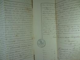 Acte Notarié 1841 Acquisition Par Hardy De Vaulx De Terres Au Baron De Bagenrieux De Lanquesaint /18/ - Manuscrits