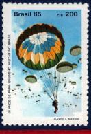 Ref. BR-1974 BRAZIL 1985 - 40TH ANNIV.,BRAZILIAN, PARATROOPS, PARACHUTES, MI# 2094, MNH, SPORTS 1V Sc# 1974 - Parachutting