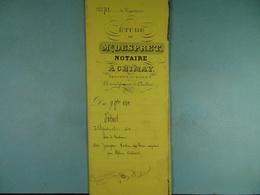 Acte Notarié 1875 Adjudication Des Biens De Vve Carlier Acquis Par Coulonval De Baileux /19/ - Manuscrits