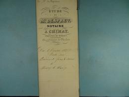 Acte Notarié 1857 Vente Par Baudart Frères Et Soeurs De Baileux à Hardy De Vaulx /20/ - Manuscrits