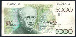 Belgium - 5000 Francs 1982 - 1992 - P145(3) - [ 2] 1831-... : Belgian Kingdom