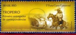 Ref. BR-3239B BRAZIL 2013 POST, TROPERO, FIRST, DELIVERYMAN, HORSE, MNH 1V Sc# 3239B - Unused Stamps