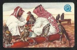 Qatar Used Phonecard Communication Tele Telephone 30 QR Eagle Birds - Qatar