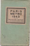 PARIS   PLAN DU METRO 1943  MELOTTEE EDITEUR - Europe