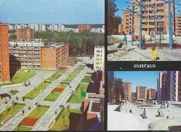 LITUANIA - SNIECKUS - VEDUTE DEL QUARTIERE - EDIZIONE SOVIETICA 1988 - NUOVA SENZA FORMULARIO - Lituania
