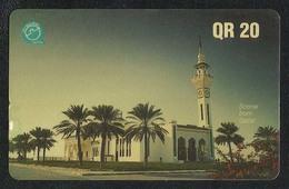 Qatar Used Phonecards Phonecard Communication Tele Telephone 20 QR Mosque Islamic - Qatar