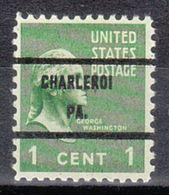 USA Precancel Vorausentwertung Preo, Bureau Pennsylvania, Charleroi 804-71 - Vereinigte Staaten