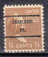 USA Precancel Vorausentwertung Preo, Bureau Pennsylvania, Charleroi 805-71 - Vereinigte Staaten
