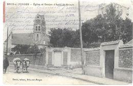 Essonne BRIIS SUR FORGES Eglise Et Donjon Boeufs - Briis-sous-Forges