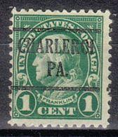 USA Precancel Vorausentwertung Preo, Locals Pennsylvania, Charleroi 552-225 - Vereinigte Staaten