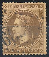 Napoléon III- YT N°30 (1867) - Oblitéré - 1863-1870 Napoleon III With Laurels