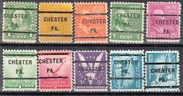 USA Precancel Vorausentwertung Preo, Locals Pennsylvania, Chester 232, 10 Diff., Perf. 11x10 1/2 - Vereinigte Staaten