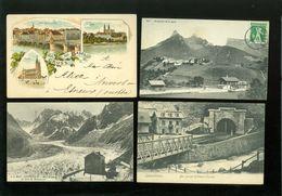 Beau Lot De 60 Cartes Postales Anciennes De Suisse       Mooi Lot Van 60 Oude Postkaarten Van Zwitserland - 60 Scans - Postcards