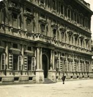 Italie Milan Palais Municipal Palazzo Municipale Ancienne Photo Stereo NPG 1900 - Stereoscopic