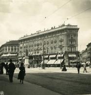 Italie Milan Piazza Elittica Cordusio Ancienne Photo Stereo NPG 1900 - Stereoscopic
