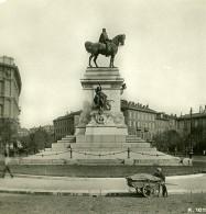 Italie Milan Monument Garibaldi Foro Bonaparte Ancienne Photo Stereo 1900 - Stereoscopic